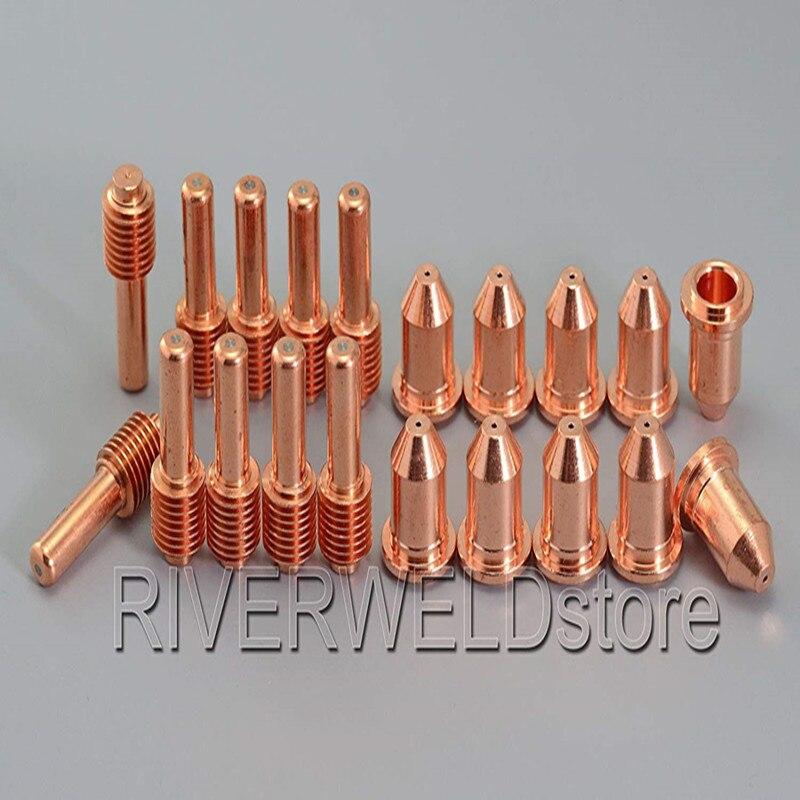 192048 Plasma Electrode & 177876 Plasma Nozzle Tips Fit Miller ICE-50C 50CM Spectrum701 Plasma Cutter Torch 20pcs