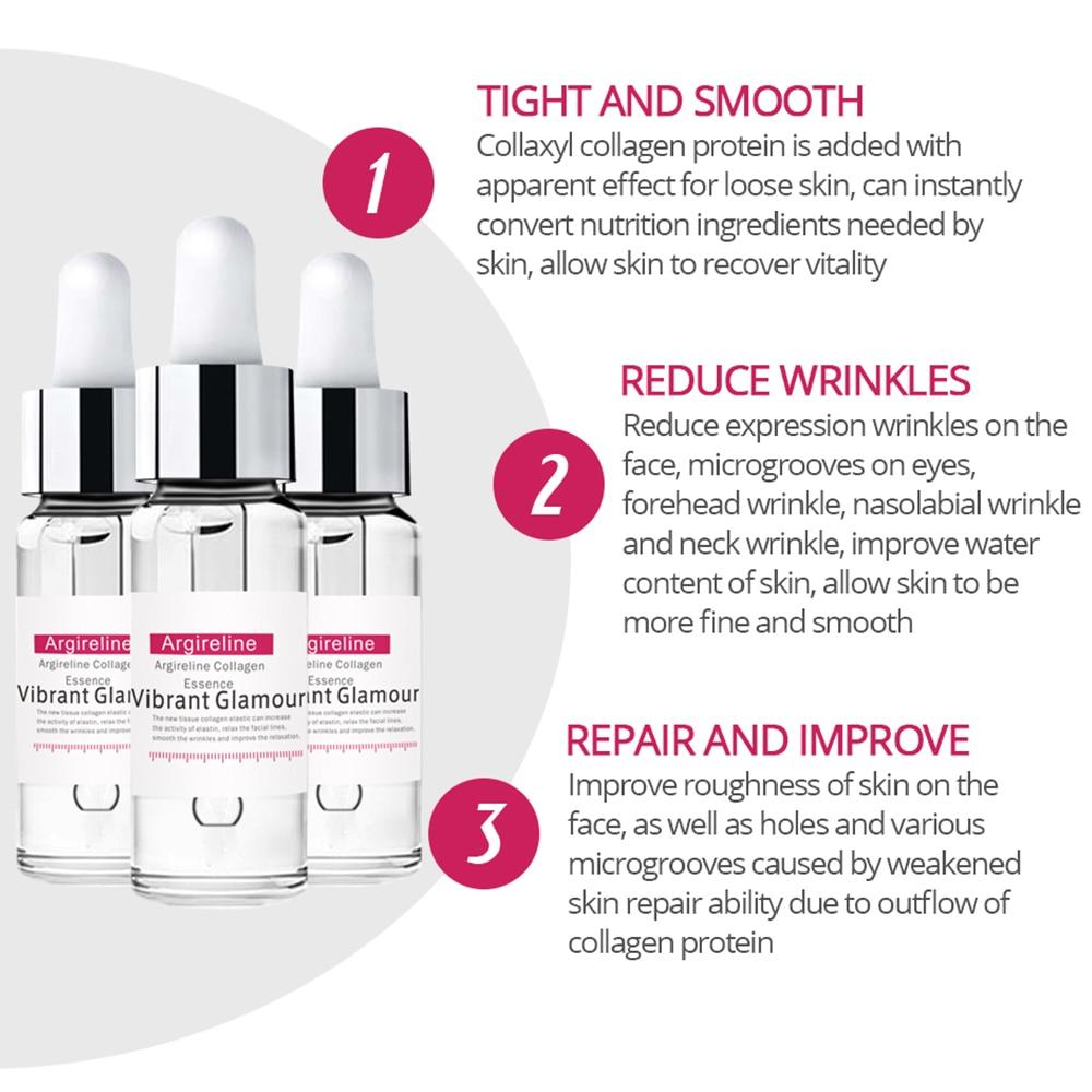 VIBRANT GLAMOUR Argireline Collagen Peptides Face Serum Cream Anti-Aging Wrinkle Lift Firming Whitening Moisturizing Skin Care 2