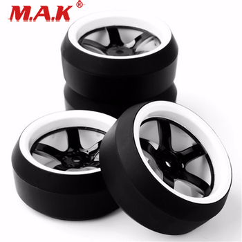 D5NWK+PP0367 Drift Tires and Wheel Rims with 12mm Hex fit 1/10 Scale On-Road Racing Car Accessories image