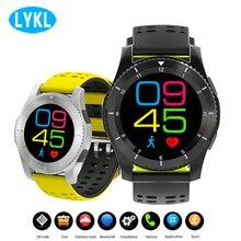 GS8 reloj inteligente impermeable reloj SIM tarjeta mensaje recordar presión arterial Monitor de frecuencia cardíaca podómetro Bluetooth Smartwatches