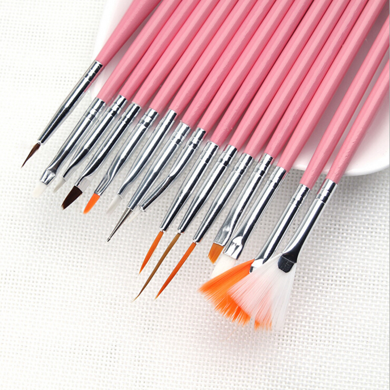 Professional Painting Tips: Hot15pcs/set Nail Art Decorations Brush Set Tools