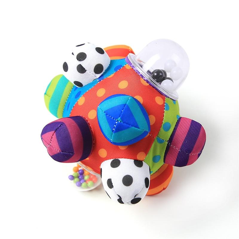 Image 5 - لعبة مرحة للأطفال كرة ضخمية قماش ناعم بقماش ناعم بقماش ناعم لعبة تدريب على شكل جرس قدرة على الإمساك للأولاد والبنات خاتم ألعاب هدية للأطفالhand rattlerattle bellbaby toys -
