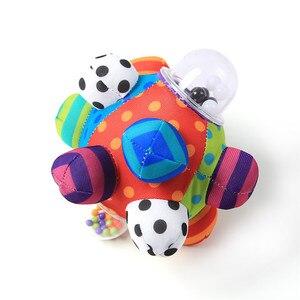 Image 5 - 赤ちゃんのおもちゃ楽しい Pumpy ボールかわいいぬいぐるみソフト布ハンドガラガラベルトレーニング把持能力のおもちゃ少年少女リングおもちゃ子供のギフト