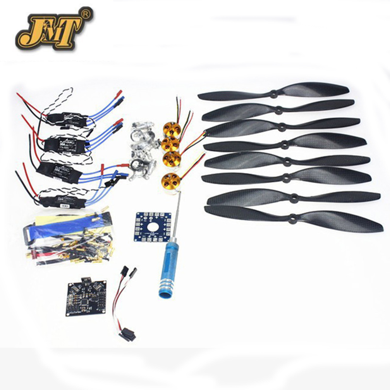 JMT 4 Axis Foldable Rack RC Quadcopter Kit with KK V2.3 Circuit Board +1000KV Brushless Motor + 10x4.7 Propeller + 30A ESC 450f nylon fiber frame airframe kk xcopter v2 9 circuit board 1000kv motor 30a esc 1045 propeller f02192 c