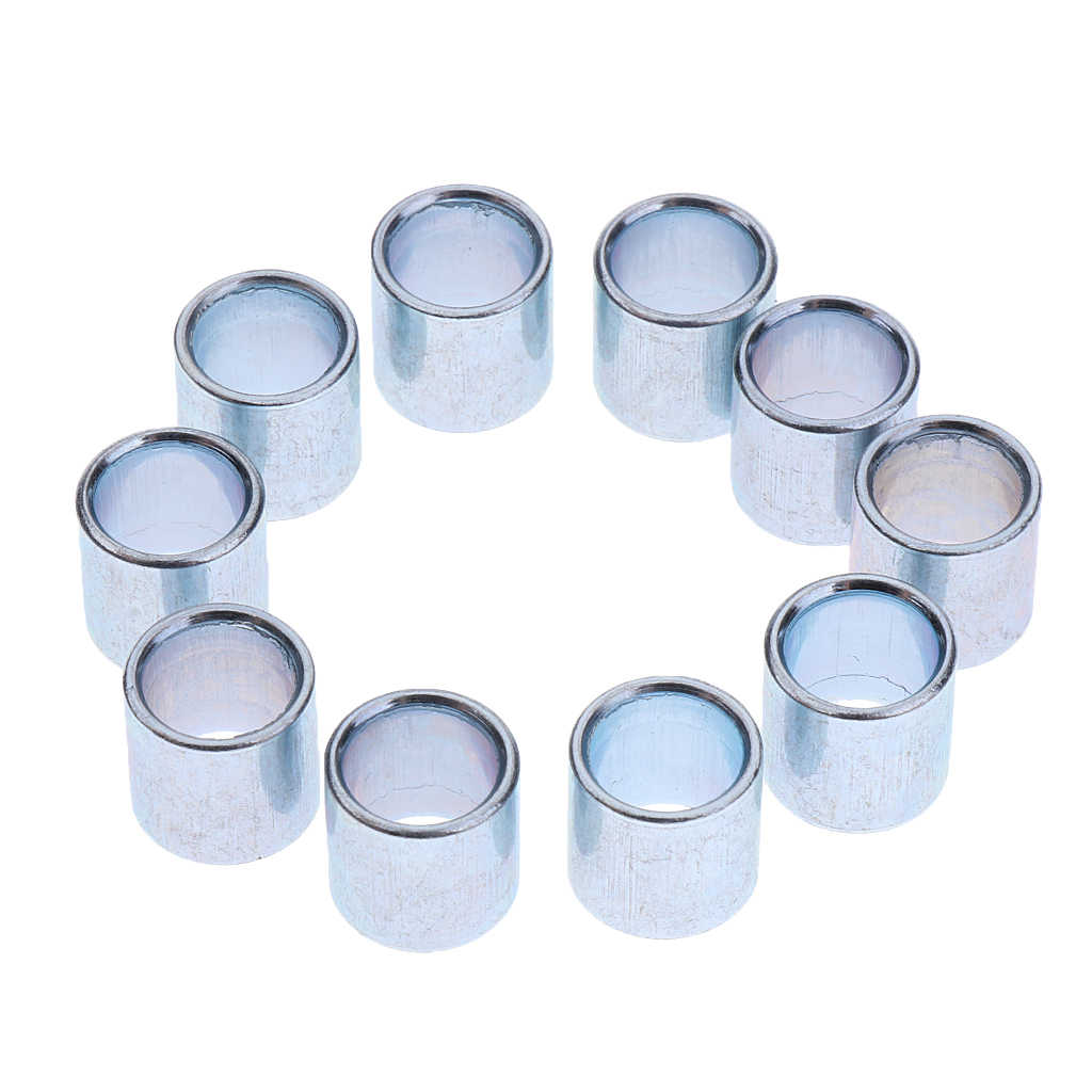 10 Pcs 10 Mm Inline Roller Skating Roda Bearing Spacer Roller Skate Roda Penggantian Roda Skateboard Bushing Bearing Scooter