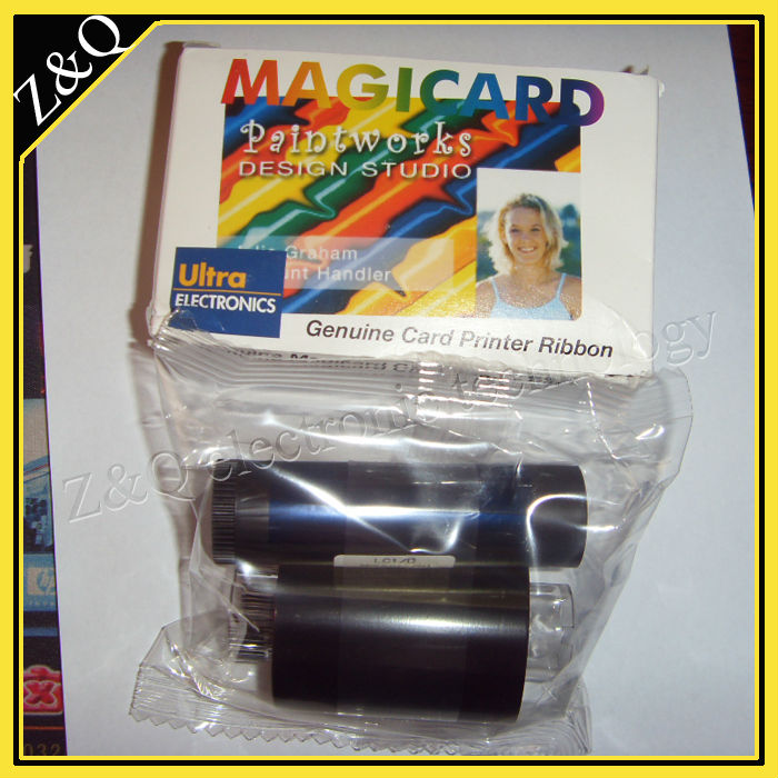 Magicard M9005-751 LC1 Color Ribbon - YMCKO - 350 prints for use with Magicard card printers original evolis r5f008saa ymcko color ribbon use for primacy id card printer 300 prints