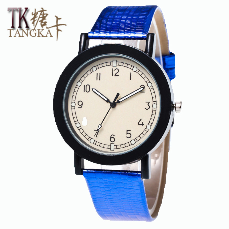 The new simple men and women font b watch b font Clockwise display show color leather