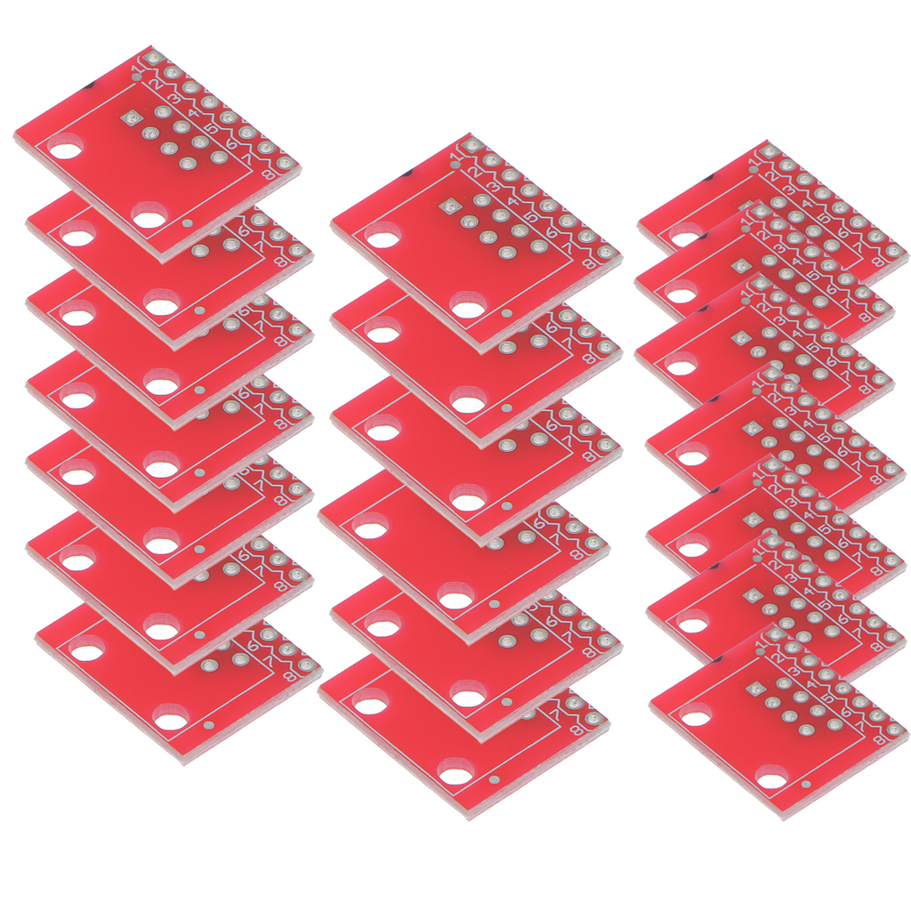 20 Pcs RJ45 Connector (8P8C) And Breakout Board Kit For Ethernet Jacks Check Ethernet Cable And Connectors RJ45 Connectors Board