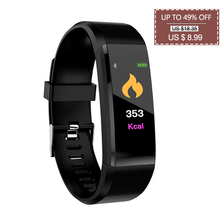 цена на 2019 Newest Health Bracelet with Blood Pressure Heart Rate Monitor Wristband Fitness Tracker Men Smart Band pk fitbits mi band 4