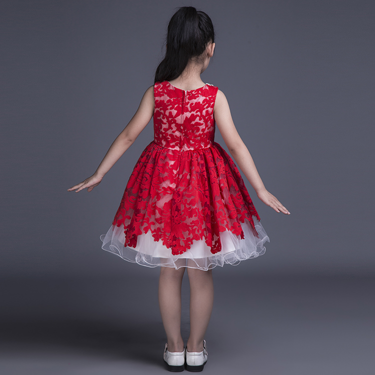 e9b651114c Red Lace Kids Ball Gown Little Girls Pageant Dress Short Puffy Flower Girl  Dress Children Formal Dress-in Flower Girl Dresses from Weddings   Events  on ...