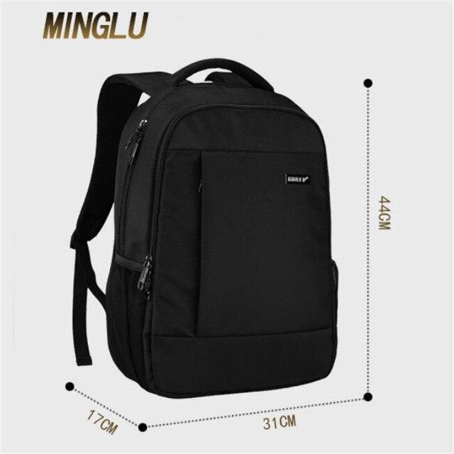 MingLu Solid Color Backpacks Fashionable Joker Women s Bag Famous Brand  Designer Backpack Simple Personality Schoolbag M334 82b1aeb26d227
