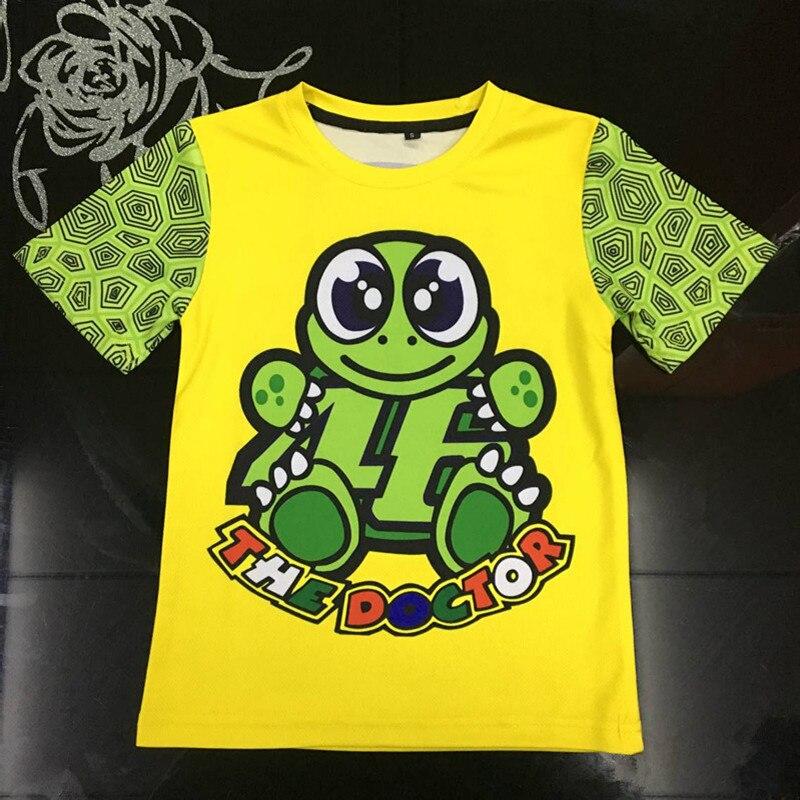 2018 Motorcycle Kids T-shirt MotoGP 46 Valen motocross Rossi Childrens pattern VR46 the doctor shirt for yamaha fans team S-XL