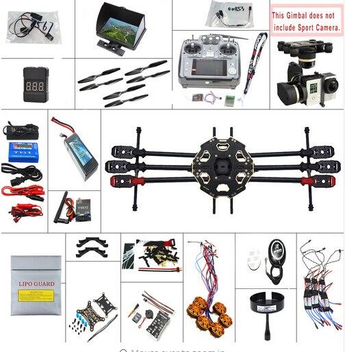 F07807-F JMT 680PRO PX4 GPS 2.4G 10CH 5.8G Video FPV RC Hexacopter Unassembled Full Kit RTF DIY RC Drone Combo MINI3D Pro Gimbal rtf full kit hmf y600 tricopter 3 axis copter hexacopter apm2 8 gps drone with motor esc at10 tx