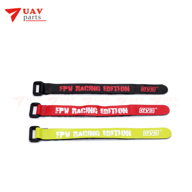 10 PCS DYS 2*20CM Magic Sticker Strap/Lipo Battery Strap Belt /Reusable Cable Tie Wrap bands for 3s-4s FPV battery parts