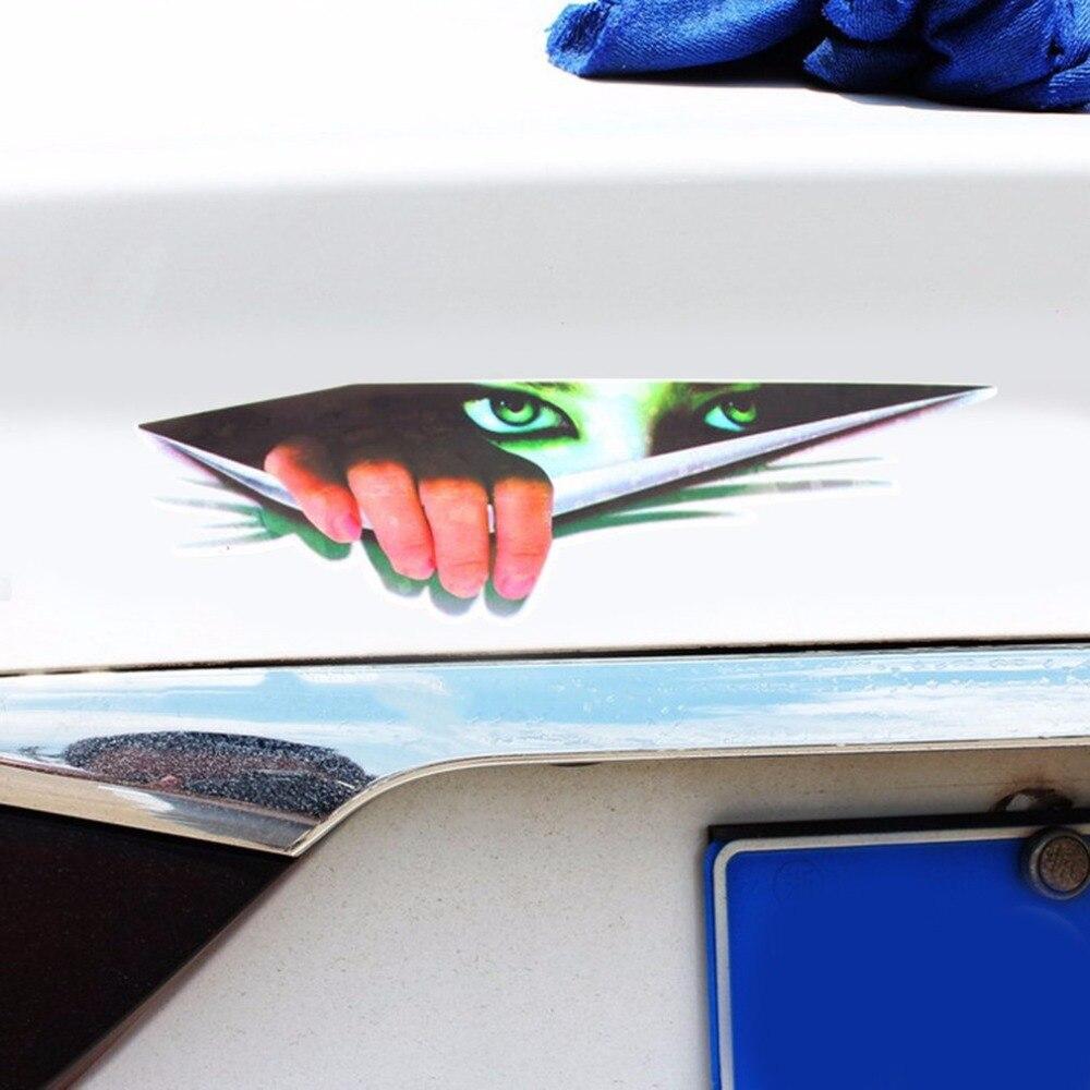 LESHP 3D Car Window Imitation Stickers Fashionable Vehicle Decal Motorcycle Interesting Peeping Eyes Decorative Sticker