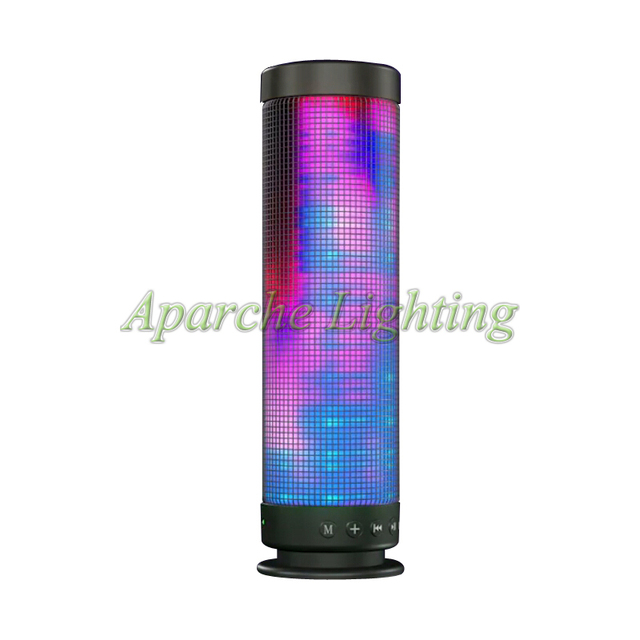 New Arrival Pulse Portable Wireless Bluetooth Speaker Colorful 360 LED Lights TF Card Outdoor Surround Speaker Easy Carry out