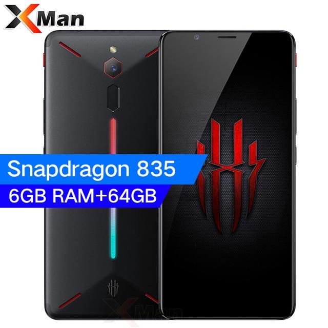 Original Nubia Red Magic Snapdragon 835 Octa Core 6GB/8GB RAM 64GB/128GB ROM 6.0inch 2160*1080P 3800mAh 24.0MP Fingerprint