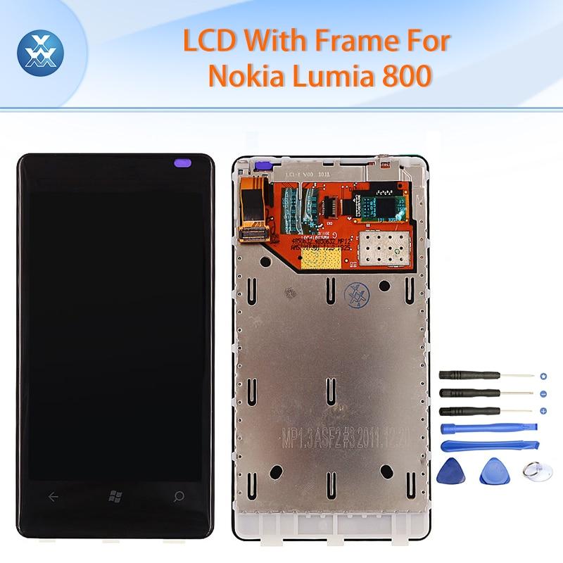 Lcd original para nokia lumia 800 pantalla lcd de pantalla táctil digitalizador