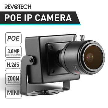 H.265 POE HD 3MP 2,8-12-12mm Zoom Manual cubierta IP Cámara 1296 P/1080 P Mini seguridad de ONVIF P2P cámara CCTV sistema de Video vigilancia