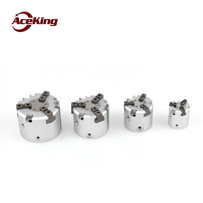 MHS3 16D 20D 25D 32D 40D 50D SMC especificação 63D 80D 100D 125D 3-dedo garra ar duplo- ação de fixação do cilindro de fixação do mandril