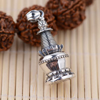 FNJ 925 Silver Pendant 100% Pure S925 Solid Thai Silver Gawu Box Tower Buddha Pendants for Men Jewelry Making