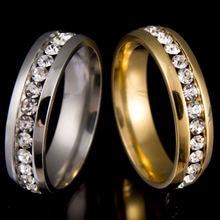 Обручальное кольцо из титановой стали никогда не выцветает золотистого