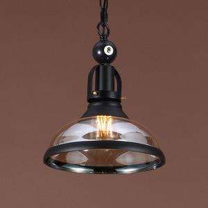 Image 2 - VINTAGE จี้ไฟแก้วเหล็กโคมไฟโคมไฟห้องรับประทานอาหารอุตสาหกรรม LOFT ร้านอาหารบิลเลียดจี้โคมไฟ