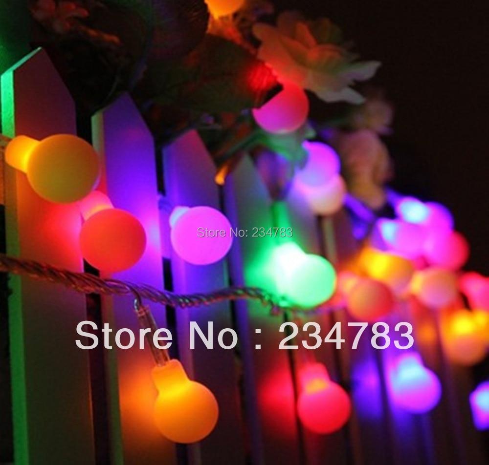 LED Christmas String Lights 100 Multi Color Globe Fairy