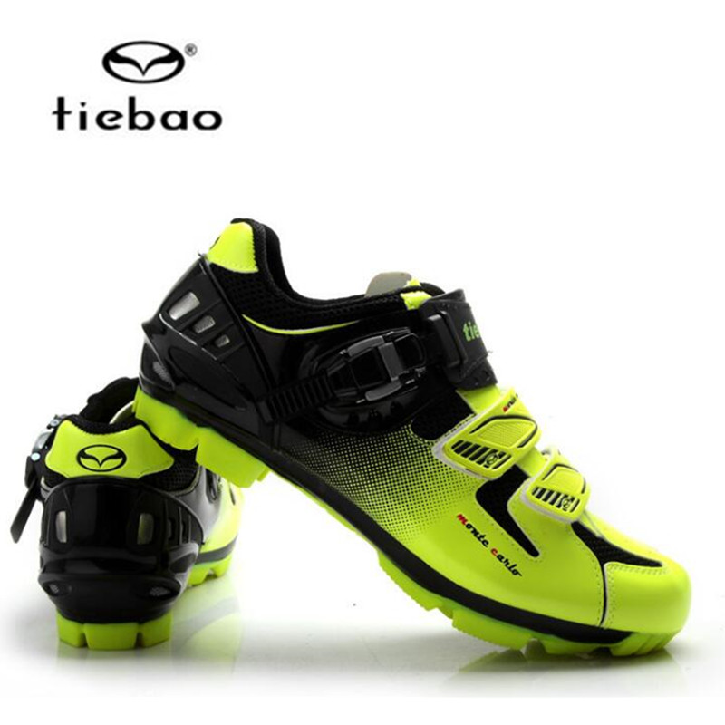 TIEBAO Professional MTB Cycling Shoes Men Women Mountain Bike Self-locking Shoes Breathable Bicycle Nylon-fibreglass Sole Shoes