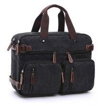 Männer Handtaschen Leinwand Laptop umhängetaschen Crossbody umhängetasche Große kapazität taschen