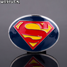 5Pcs MOQ Cool Surperman Buckles WesBuck Brand Belt Vantage for Man Women Western Metal Cowboy with Silver Plated