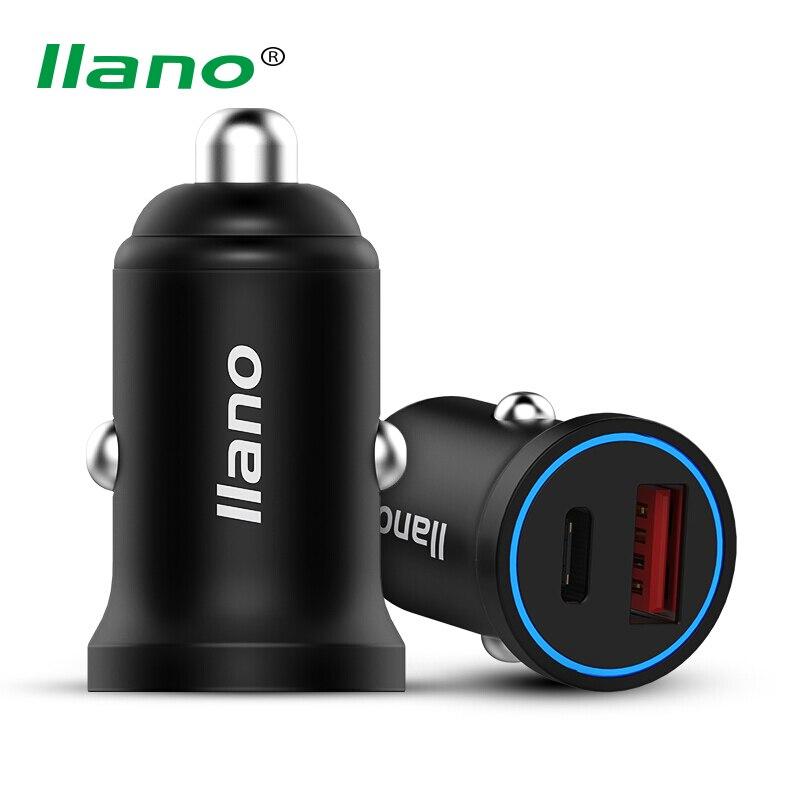 Llano 36 w cargador de coche Qualcomm Quick charge 3.0 cargador PD carga del teléfono adaptador para iphone samsung letv iPad mini Air pro