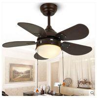 30inch continental antique modern minimalist fan light ceiling fan lamp simple fashion children study room ceiling light fan