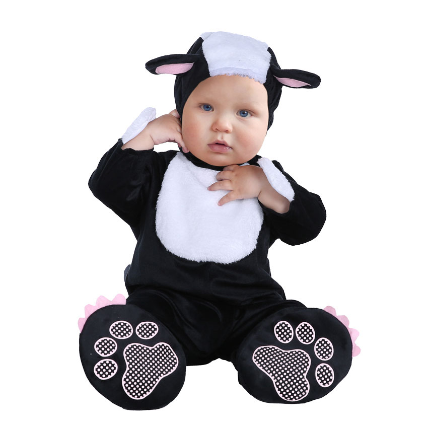 Umorden Carnival Halloween Costumes Toddler Infant Baby Animal Mephitis Costume Cosplay for Baby Girl Boy Fancy Dress Jumpsuit