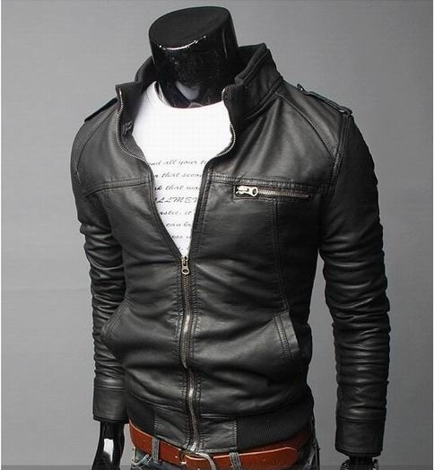 Men's men's clothing wholesale motorcycle leather 2015 new winter coat Korean slim B0022