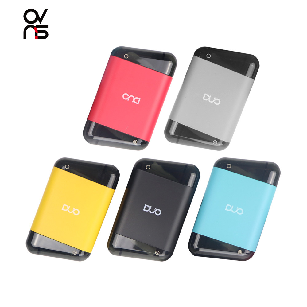 Original Ovns Duo Pod Kit Vape With 400mah Built In Battery Mod 2ml Cartridge Fit Ovns Duo Pod Electronic Cigarette Vaporizer