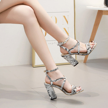 2019 Summer Sexy Serpentine High Heels Women Pumps Thin Heel Retro Stiletto Gladiator Women Sandals Wedding Party 42 women shoes цены онлайн