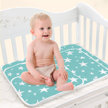 New Breathable Infant Changing Mat Waterproof Baby Nappy Changing Pad Table Cotton Ecologic Diaper Baby Mattres Bed Sheet Cover