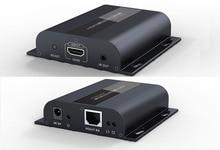 עד 120m עם IR, LKV383 HDbitT HDMI 1080P Extender LAN משחזר מעל RJ45 Cat5e/Cat6, משלוח חינם