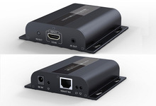 Up to 120m with IR,LKV383 HDbitT HDMI 1080P Extender LAN Repeater over RJ45 Cat5e/Cat6,Free shipping