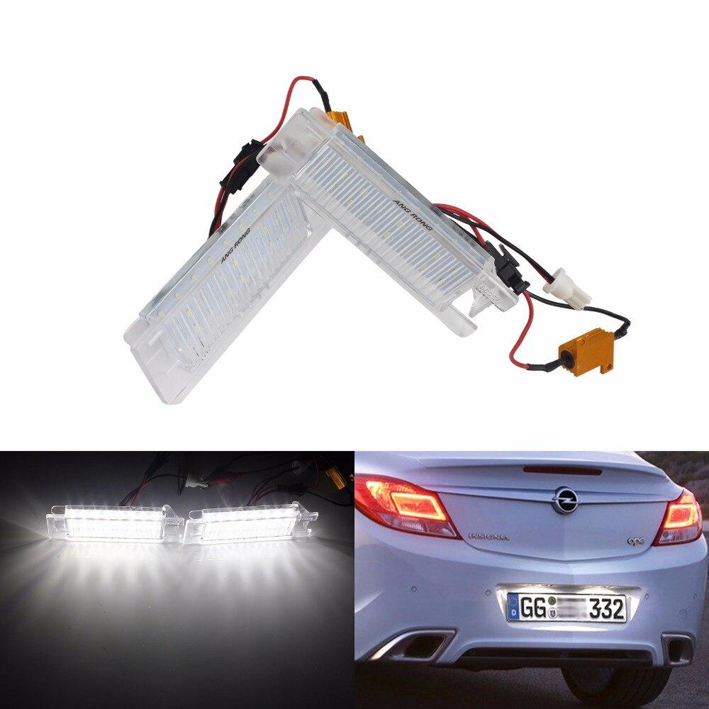 Us 1459 Angrong 2x Led Oświetlenie Tablicy Rejestracyjnej Licencji Dla Vauxhall Opel Astra H J Corsa C D Insignia Meriva Ca216 W Lampy Sygnałowe