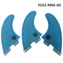 Surf Fins FCSII G5 M Size Surfboard Honeycomb Fins blue red FCS 2 Fin Hot Sell FCS II Fin Quilhas fcsii g5 m size surf fins surfboard orange honeycomb fins fcs 2 carbon firbe fin new design fcs ii quilhas