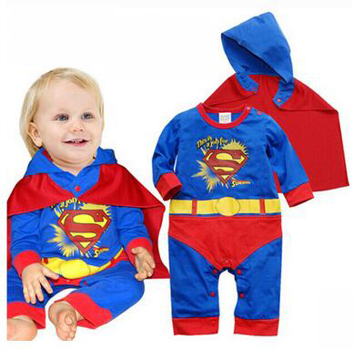 f37698e326ff Baby Boy Rompers Cotton Newborn Baby Clothes Bateman Superman Kid ...