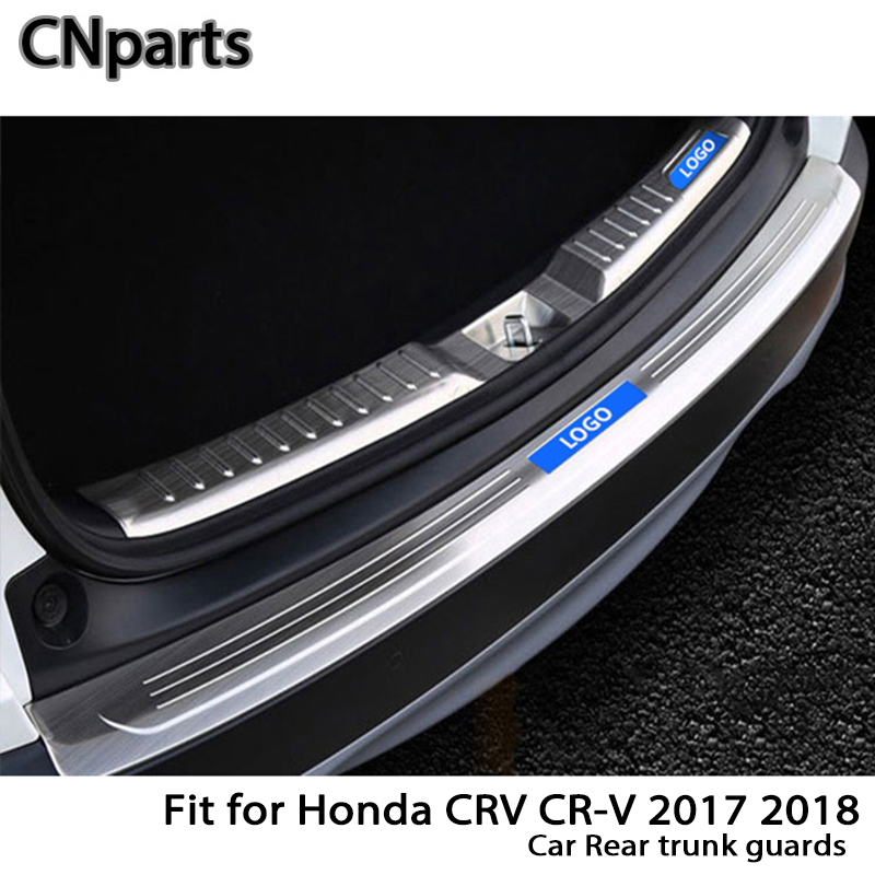 CNparts для Honda CRV CR-V 2017 2018 авто задний багажник двери Бампер анти полоски от царапин аксессуары