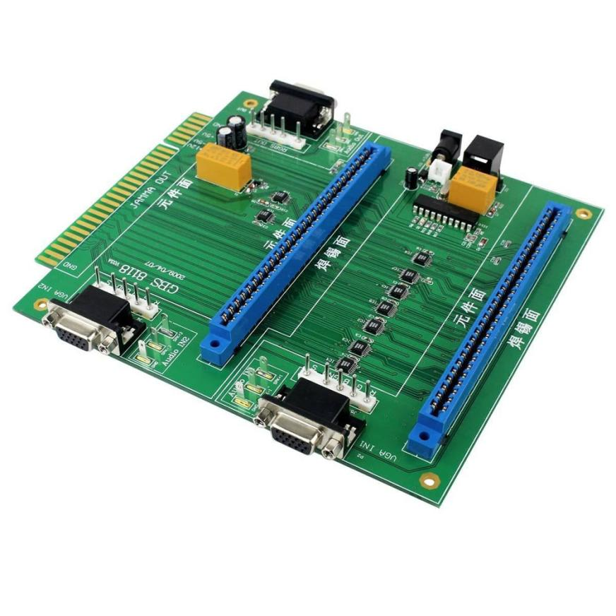 Good Application 2 in 1 Switcher/Splitter Multi Adapter Card Board with Remote GBS-8118 Arcade Game PCB For Jamma Jan22 replacement main board pc motherboard for 2019 in 1 game family pcb spare parts replace main board for 2019 in 1 multi game box