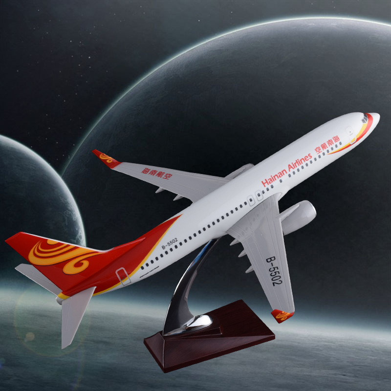 40cm Resin China Hainan Air Aircraft Model Boeing 737 Airplane Model Hainan Airways Airbus Plane Model China Aviation Collection sale phoenix 11221 china southern airlines skyteam china b777 300er no 1 400 commercial jetliners plane model hobby