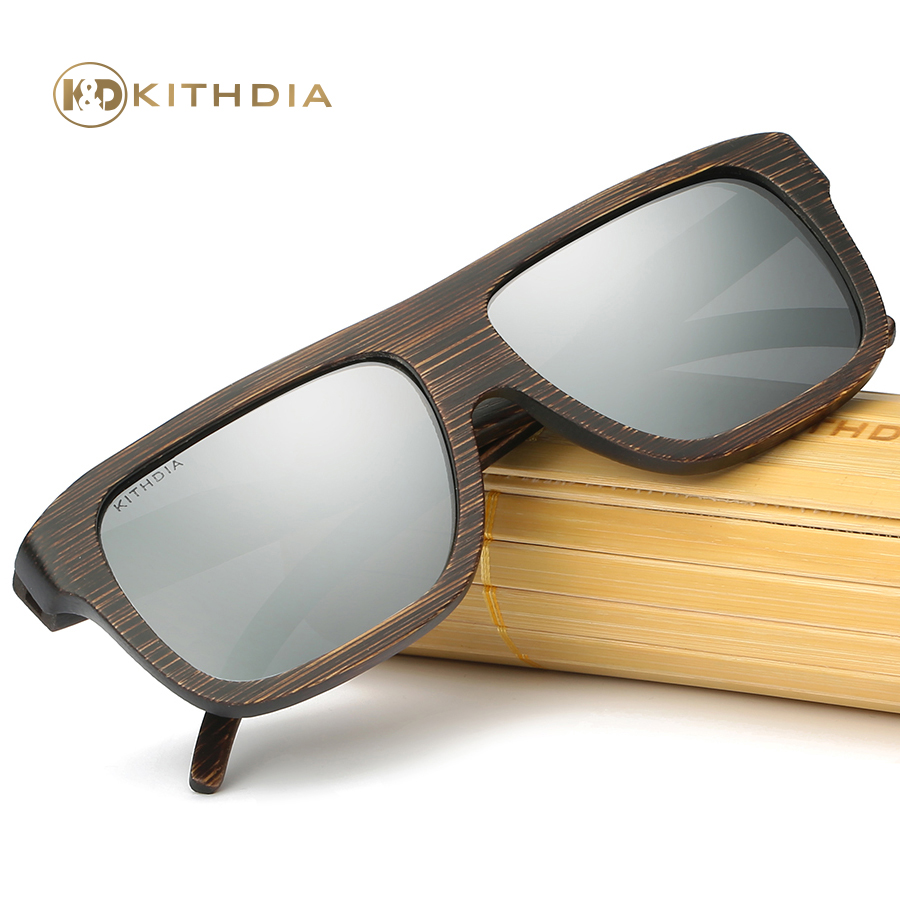 Kithdia Brand Wood Sunglasses Polarized Mens / Womens Bamboo Box and Support Drop Shipping Provide Pictures #KD29