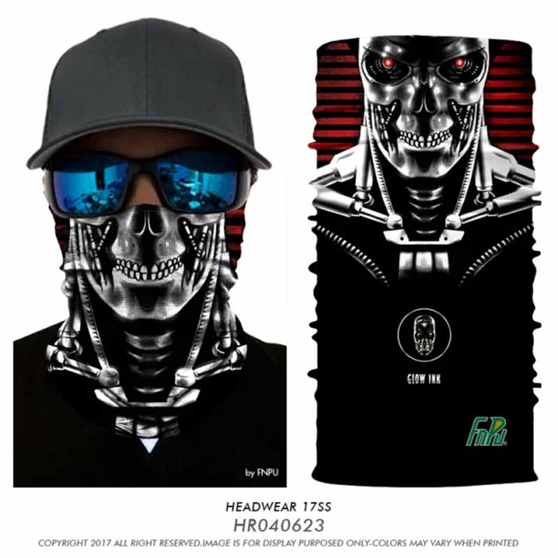 3D Seamless Skull Balaclava Neck Face Mask Halloween Jokers Magic Bandana Animal Transformers Bandana Headwears Bicycle Scarves miracool neck bandana re usable 100 s of times keeps you cool red 2 pack