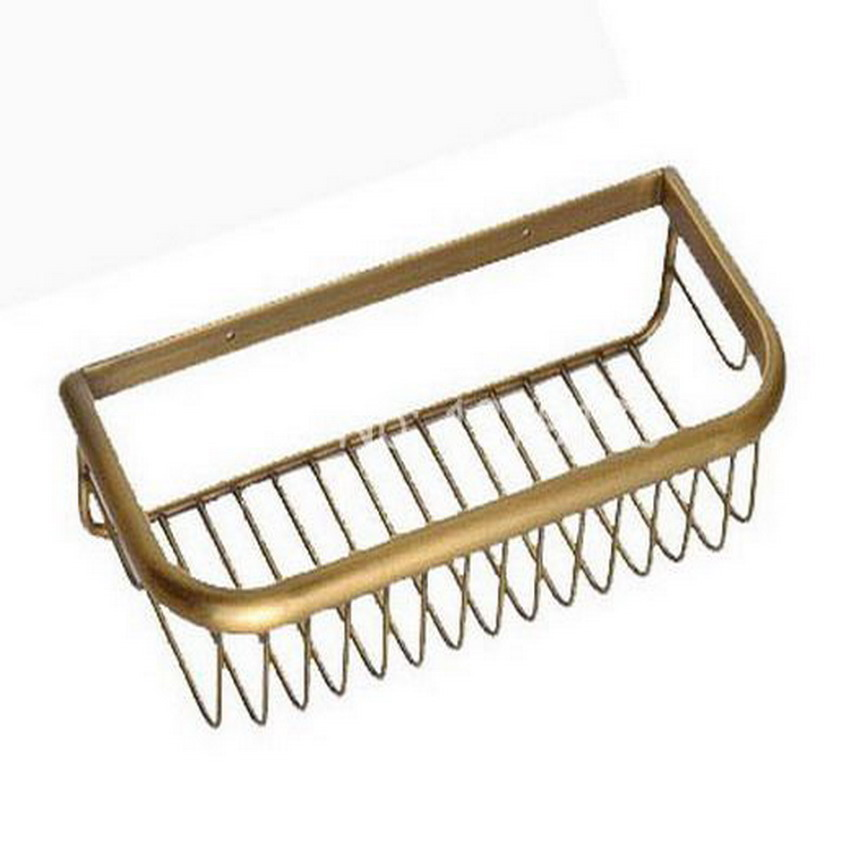 Antique Brass Wall Mounted Bathroom Accessory Soap / Sponge Shower Storage Basket aba030 new original 7 inch tablet lcd screen 7300100070 e203460 for soulycin s8 elite edition ployer p702 aigo m788 tablets lcd