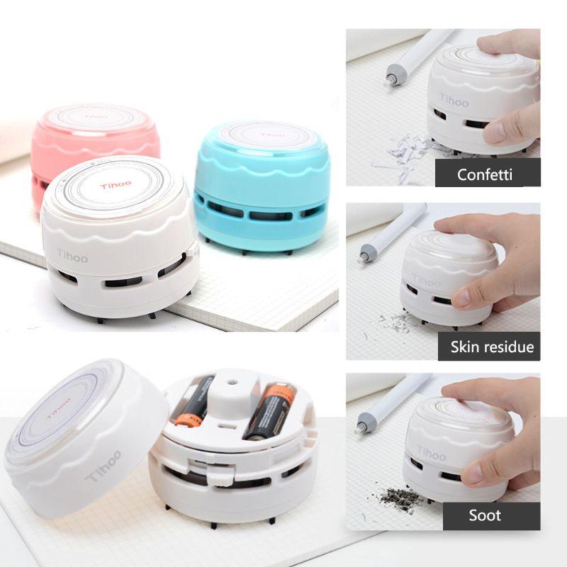Home Mini Portable Desktop Staubsauger Handheld Cordless Kehrmaschine Tisch Reinigung Gut FüR Antipyretika Und Hals-Schnuller